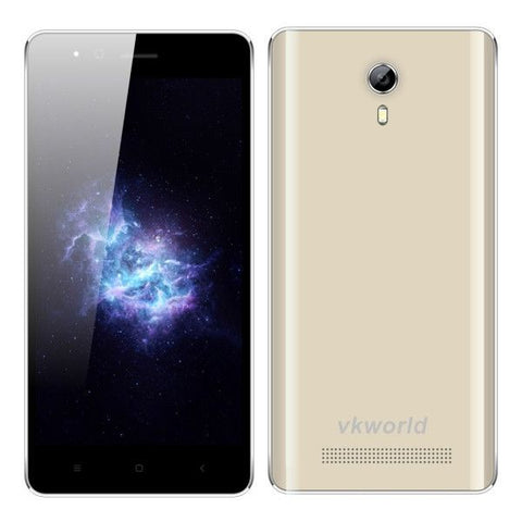 VKworld F1 Smartphone 8GB, Network: 3G, 4.5 inch Android 5.1 MTK6580-1.3GHz Quad-core, RAM: 1GB, Dual SIM, GPS, FM(Gold)