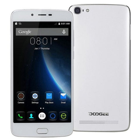 DOOGEE Y200 32GB, Network: 4G, Fingerprint Unlock, 5.5 inch Android 5.1 MT6735 64-Bit Quad core, RAM: 2GB, Hotknot OTA(White)