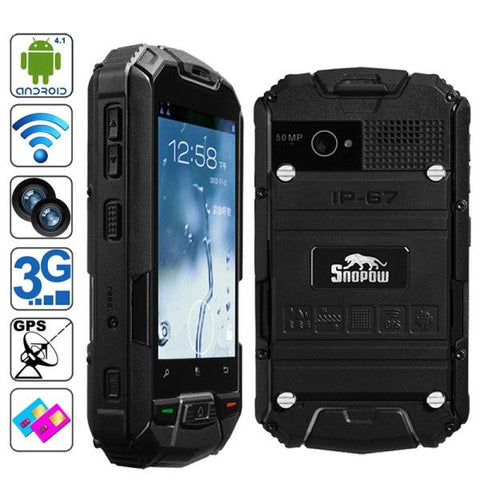 Snopow M6, GPS + AGPS, Waterproof grade: IP67(Black)