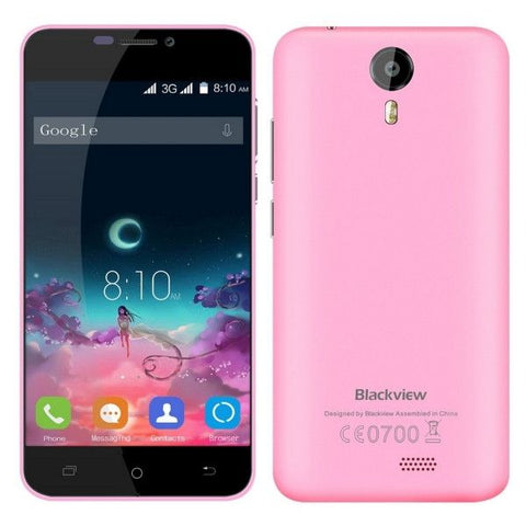 Blackview BV2000S 8GB, Network: 3G, 5 inch Android 5.1 MTK6580 Quad-core 1.0GHz, RAM:1GB(Pink)