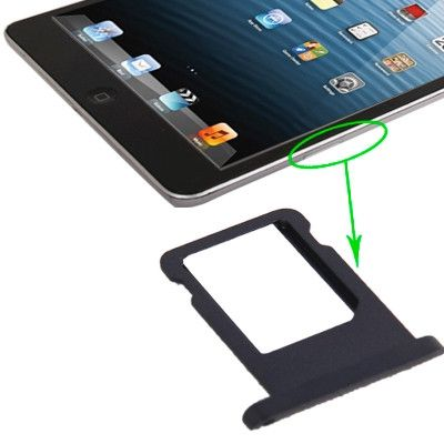 Original Sim Card Tray Holder for iPad mini 1 / 2 / 3 (WLAN + Celluar Version), Black