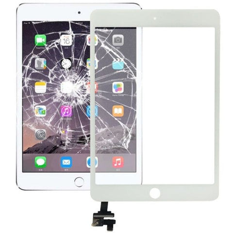Replacement Touch Panel + IC Chip for iPad mini 3(White)