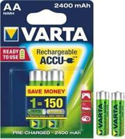 Varta Power Accus 2x AA Size Ni-MH Rechargeable batteries
