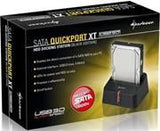 Sharkoon SATA QuickPortXT Docking Station-USB3.0-(max. 5 Gbit/s)-Suitable for 2.5 inch  and 3.5 inch  SATA HDDs-One click backup function