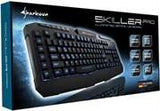 Sharkoon Skiller Pro Illuminated Customisable Gaming Keyboard-3-block standard layout