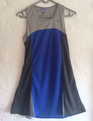 40Luv tennis dress Charcoal Grey and Blue