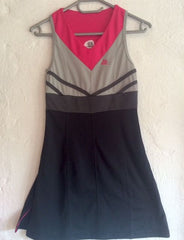 40Luv tennis dress Grey Black and Pink