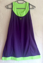 40Luv tennis dress Purple and Volt