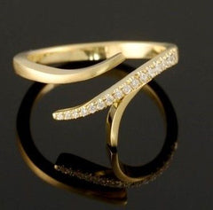Certified Extraordinary Split Design 18k White or Yellow Gold Diamond Ring