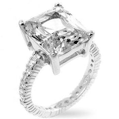 5.00ct Clear Cubic Zirconia Engagement Ring in 925 Sterling Silver - Deal