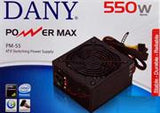 "UniQue Dany Power Max 55 Approx. 550w Power Supply "" 120mm Fan"