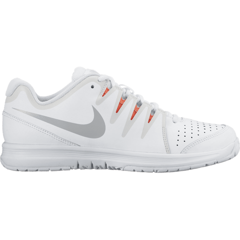 Women's Nike Vapor Court WHITE/WOLF GREY-HOT LAVA - UK 5