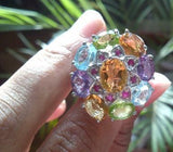 Grand Multi Natural Gemstone Jeweled Ring - Zasttra.com - 2
