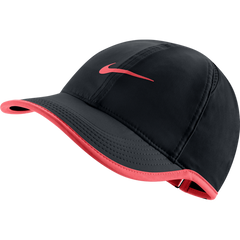 Nike Feather Light Cap Black and Hot Lava