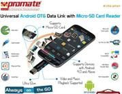Promate Kitkater Universal Android OTG Data link with Micro-SD Card Reader