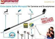 Promate Monopro-10 Extendable Selfie Monopod for Cameras and Smartphones Colour:Black