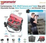 Promate Xplore-M Contemporary DSLR Camera Bag with adjustable storage