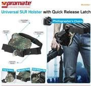 Promate Bolster Universal SLR Holster with Quick Release Latch - Camouflage