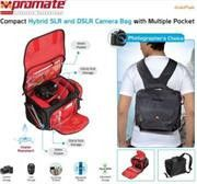 Promate linkPak Compact Hybrid SLR Bag with Multiple Pocket and Customizable Inner Divider Options