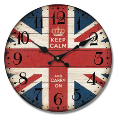 Keep Calm London Themed Wooden Wall Clock