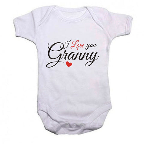 I love you Granny baby grow