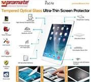 Promate primeShield.Air-Ultra-Thin Tempered Optical Glass Screen Protector for iPad Air