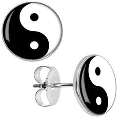 Yin Yang 925 Sterling Silver Earrings