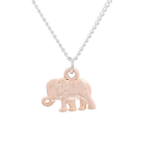 Fashion Jewelry Rose Gold Elephant Necklace