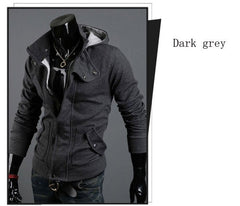 High Collar Men's Jacket casual with a hood