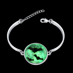 925 Sterling silver plated Glow in the dark bracelet Flying bats design