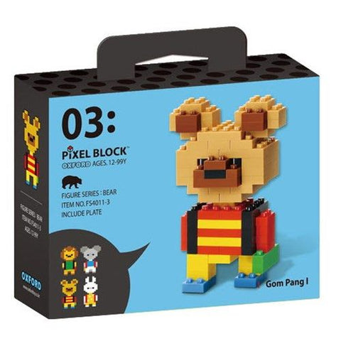Bear | Mini Pixel Block | Oxford Toys