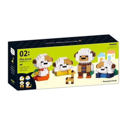 Puppy Gift Set | Mini Pixel Block | Oxford Toys