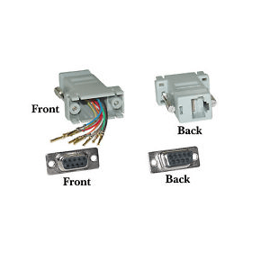 Rs232 9Pin Female Serial To Rj45 Convert