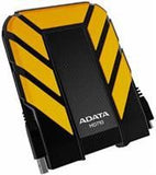 "AData AHD710-1TU3-CYL DashDrive External 2.5"" 1TB USB 3.0 Portable Black Drive-Dustproof"