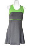 40LUV Aneleh tennis dress - Grey and Lime Green - 13/14 - Zasttra.com