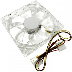 80Mm Blue Fan With 4 Pin Molex Connector