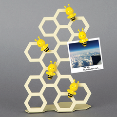 Memo Holder & Stand | Bee Magnet | Ivory