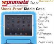 Promate Bamby.Air-Shockproof Impact resistant case with convertible stand for iPad Air-Blue