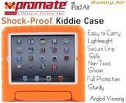 Promate Bamby.Air-Shockproof Impact resistant case with convertible stand for iPad Air-Orange