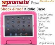Promate Bamby.Air-Shockproof Impact resistant case with convertible stand for iPad Air-Pink