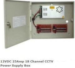 Casey 12VDC 25Amp 18 Channel CCTV Power Supply Box Retail Box