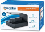 Manhattan QuickDockǽ¶? SuperSpeed USB 3.0-Transfer rates: up to 5 Gbps-Single insertion slots accepts 3.5 inch  and 2.5 inch  SATA high-capacity hard-disk - Zasttra.com