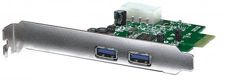 Manhattan SuperSpeed USB PCI Express Card - Two external SuperSpeed USB ports