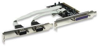 Manhattan PCI 2X Serial port and 1 x port parallel Combo card-Two Serial DB9 + One Parallel DB25 External