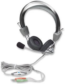 Manhattan Stereo Headset + Microphone with in-line volume control