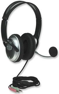 Manhattan Classic Stereo Headset + Microphone with in-line volume control
