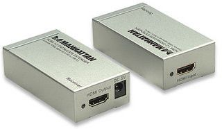 Manhattan HDMI Cat5e/Cat6 Extender - Extends 1080p signal up to 60m