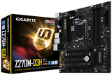 Gigabyte GA-Z270M-D3H LGA1151 Motherboard - Support for 7th and 6th generation Intel Core i7 processors/ Intel Core i5 processors/Intel Core i3 processors/ Intel Pentium processors/Intel Celeron processors in the LGA1151 package