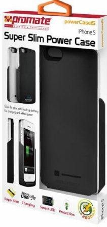 Promate PowerCasei5 iPhone 5 Slim-fit cutaway design case with in-built 2600mAh battery Colour:Black