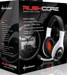 Sharkoon Rush Core Gaming Headset with Soft Ear Pad--40mm Driver Diameter